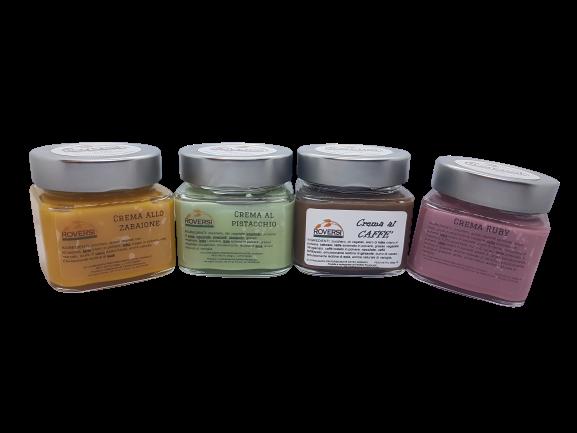 4-confezioni-di-crema-spalmabile-al-caff-pistacchio-zabaglione-ruby-200gr